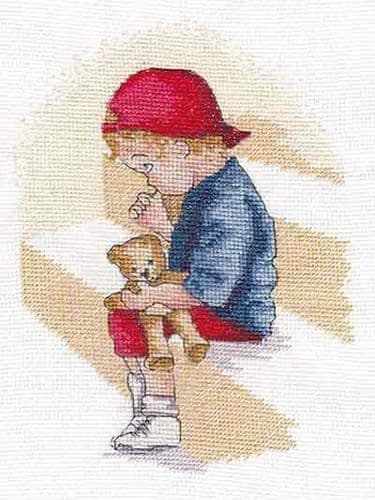 The Naughty Step Counted Cross Stitch Kit from All Our Yesterdays